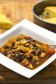 Black Bean and Butternut Squash Chili - Supper for a Steal