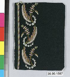 Embrodery Sample, France, late 18th century    The Metropolitan Museum