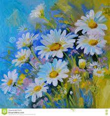 Resultado de imagen para pinturas al oleo de flores margaritas