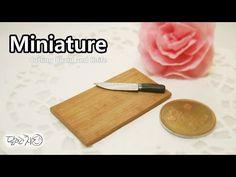 미니어쳐 도마와 칼 만들기 Miniature * Cutting Board and Knife - YouTube