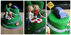 """Carl's 40th """"over the hill"""" cake."""