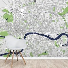 Amazing Illustration map of London wall mural. Great for homes and businesses! World Map Wallpaper, Photo Wallpaper, Concrete Bath, London Wall, Us Destinations, Wall Murals, Rustic, Illustration, Homes