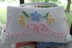 White Chenille Bed Pillow Cover Bed Pillow by LoisBoutique on Etsy