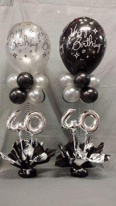 Miniloon Event tower - New Site Birthday Balloon Decorations, Balloon Centerpieces, 40th Birthday Centerpieces, 40th Birthday Balloons, 90th Birthday Parties, 40th Birthday Cakes, Birthday Celebration, Party Ideas, Balloon Tower