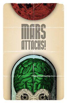 Very nice art for Mars Attacks!