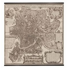 Authentic Models Rome Map - 1676