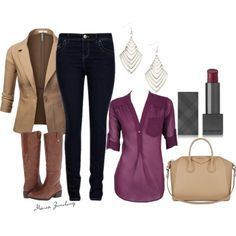 """""""Apple body shape: fall outfit"""" by zimolong-maria on Polyvore"""