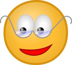 Animated Smiley Face Clip Art   Smiley With Glasses clip art