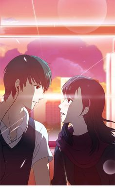 Webtoon called Orange Marmalade that is about a teenage vampire girl who falls in love with a boy. In this world, vampires are known to exist but shunned from society.