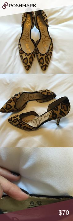 Leopard Half Calf Hair Sam Edelman Stilettos❤️ Beautiful OPAL Leopard Half Calf Hair Sam Edelman Stilettos. Only worn twice, very clean and in fabulous condition!  Genuine Leather. Size 8.5. 3 inch heel. Awesome Kick Butt shoe for fall!❤️ Sam Edelman Shoes Heels