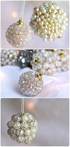 weihnachtendekoration selber machen weihnachtsdeko selber machen weihnachtskugeln aus perlen
