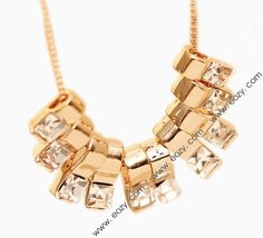 $7.27 Fashion Shiny Array Alloy Crystal Pendant Necklace for Decoration #necklace #crystal