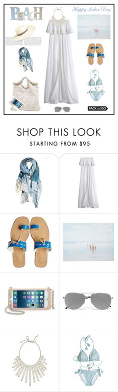 """Pack and Go: Labor Day♥♥♥"" by marthalux ❤ liked on Polyvore featuring Calypso St. Barth, Cool Change, Penelope Chilvers, She Hit Pause Studios, STELLA McCARTNEY, Yves Saint Laurent, Calypso Private Label, summertime, summersandals and laborday"