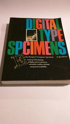 Digital Type Specimens : The Designer's Computer Type Book by Ben Rosen (1991, … #WorkbookStudyGuide