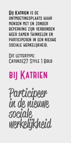 Bij Katrien lettertypes concept#01