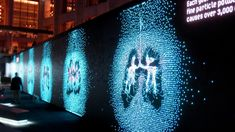 IBM's art installation that pulls real-time weather data to form data visualizations