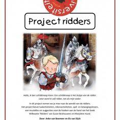 Project-ridders In dit project nemen we je mee naar de wereld van de ridders. Dit project van 131 pagina's bevat taalactiviteiten, rekenactiviteiten, spel- en bewegingslessen, een muziekles en suggesties voor de hoeken aan de hand van het boek Willewete 'Ridders' van Suzan Boshouwers en Marjolein Hund. Knight Party, Creative Kids, Primary School, Fairy Tales, Baseball Cards, Knights, Carnival, Middle Ages, Authors