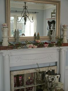 Chateau Chic: Red Transferware Inspired Mantel 2013
