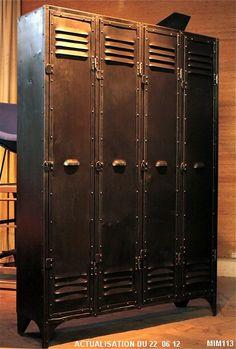 vestiaire industriel 5francs | Decorating | Pinterest | Industrial ...