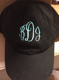 Monogram Hat by BeccasSouthernGrams on Etsy