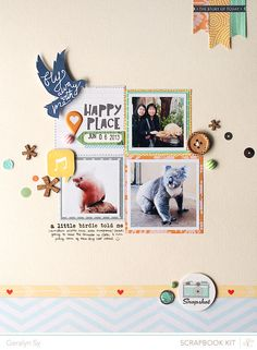 #papercraft #scrapbook #layout    In a Creative Bubble: Studio Calico: Valley High
