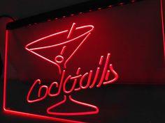 LB522- Cocktails Rum Wine Lounge Bar Pub LED Neon Light Signs home decor crafts