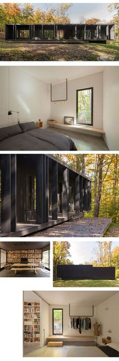 architecture chaletforesteir modusvivendi madera negra black wood Source by unuseless Style At Home, Bungalow, Casas Containers, Prefabricated Houses, Wood Architecture, Forest House, Black House, House In The Woods, Future House