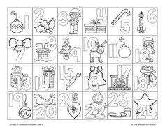 24 Days of Christmas Printables – Day ready for the Christmas countdown with this cute no-prep advent calendar coloring page! 24 Days of Christmas Printables – Day ready for the Christmas countdown with this cute no-prep advent calendar coloring page! Countdown For Kids, Advent Calendars For Kids, Christmas Countdown Calendar, Kids Calendar, School Calendar, Calendar 2017, Christmas Activities, Christmas Printables, Christmas Games