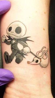 Super cute nightmare before Christmas tattoo - Disney