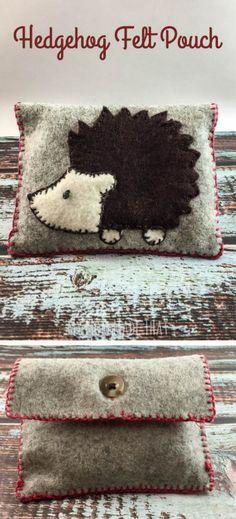 DIY Hedgehog BagMake a quick and easy embroidered hedgehog...