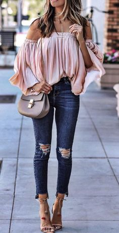 Summer style! Chloe bag is cute, that blouse I need!