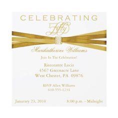 Classy 50th Birthday Decorations | Elegant 50th Birthday Party Invitation Ideas | New Party Ideas
