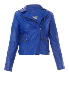 Blouson en cuir Red Leather, Leather Jacket, Denim, Jackets, Colours, Summer, Fashion, Boutique Online Shopping, Mantle