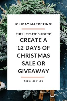 Want to run a 12 Days of Christmas Sale promotion? Here's a step by step guide to creating your own 12 Days of Christmas sale of giveaway event. Perfect holiday marketing for your shop's gift selection.