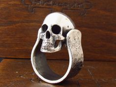 MySacrum MOVING SKULL RING by MySacrum on Etsy