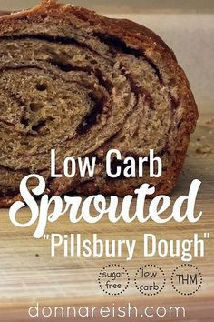 """Low Carb Sprouted """"Crescent Roll"""" Dough (aka Low Carb """"Pilsbury Crescent Dough"""") { Low Carb, Sugar-Free, THM Crossover or S} by Donna Reish"""
