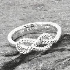 Infinity Ring, Engraving Ring, Best Friend, Promise, Personalized, Friendship, Sisters, Mother Daughter, Sterling Silver, Bridesmaid Gift by JubileJewel on Etsy
