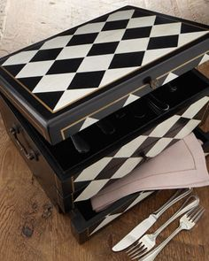 """""""Harlequin"""" Flatware Chest at Horchow."""