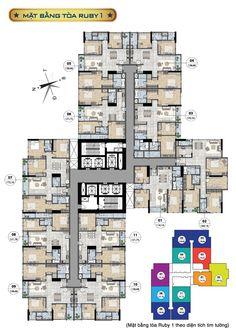 Plan Hotel, Hotel Floor Plan, Building Layout, Building Plans, Modern Architecture Design, Architecture Plan, Apartment Floor Plans, Hotel Apartment, Habitat Collectif