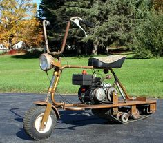 Not sure what to call this. Minibike or Snowmobile