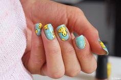 Canard de bain - Nail art  --- Bath duck nails