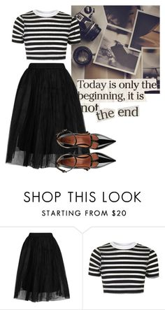"""""""Outfit"""" by quotes4life101 ❤ liked on Polyvore featuring Topshop and RED Valentino"""