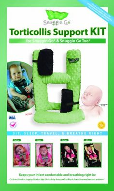 Amazon.com : Snuggin Go Torticollis Support Kit for Snuggin Go and Snuggin Go Too : Child Safety Car Seat Accessories : Baby
