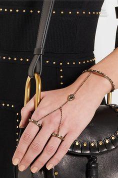 Valentino | Gold-plated finger bracelet | NET-A-PORTER.COM