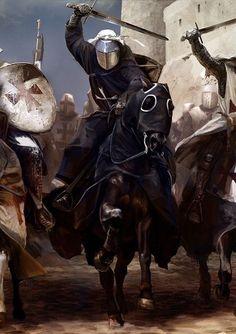 Medieval to Fantasy Knights t Knights Knights Templar and Medieval Knight, Medieval Armor, Medieval Fantasy, High Fantasy, Knight On Horse, Knight Art, Armadura Medieval, Knights Hospitaller, Knights Templar
