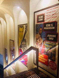 Twofold Studio worked with James Davidson Architect on The Elizabeth Picture Theatre project. Entry stairs themed movie posters hung within sculptural curved arches.