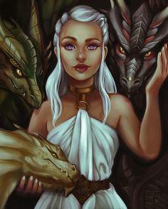 Daenerys Targaryen von LornaKelleherArt - of Thrones Source Arte Game Of Thrones, Game Of Thrones Quotes, Game Of Thrones Funny, Daenerys Targaryen Art, Game Of Throne Daenerys, Khaleesi, Got Dragons, Mother Of Dragons, Diy Tattoo