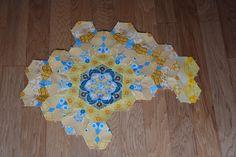 https://flic.kr/p/rDj7QS | Rosette 3 | March - roestte 3 The New Hexagon Millefiore QAL