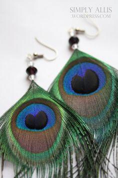 DIY Peacock Earrings :)