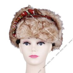 Unisex Winter Sequined Plush Korean Style Cotton Russian Hat #eozy